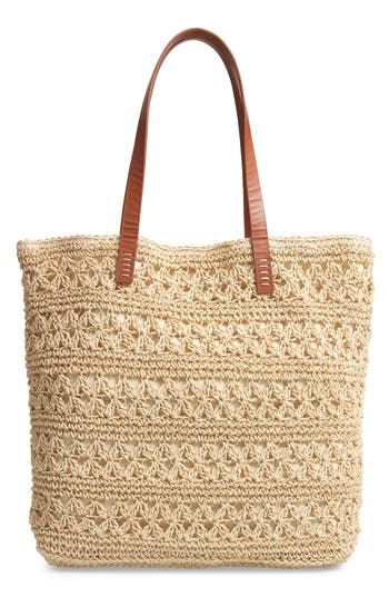 Nordstrom Packable Woven Raffia Tote