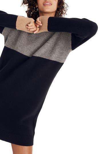 Madewell Colorblock Sweater Dress