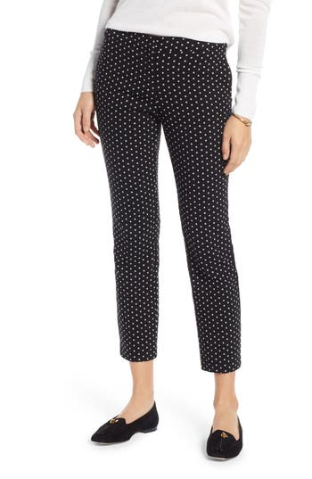 1901 Star Print Straight Leg Crop Pants