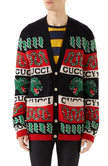 Gucci Logo Wool Cardigan