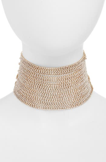Leith Wide Crystal Choker