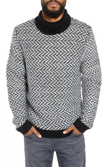 Calibrate Chunky Herringbone Turtleneck Sweater
