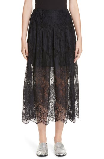 Roseanna Leylight Lace Midi Skirt