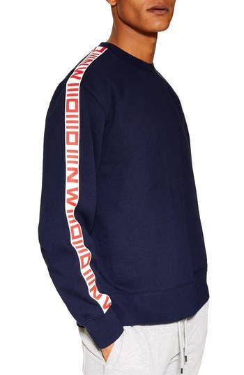 Topman Taped Crewneck Sweatshirt