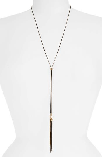 Canvas Jewelry Spray Chain Lariat Necklace