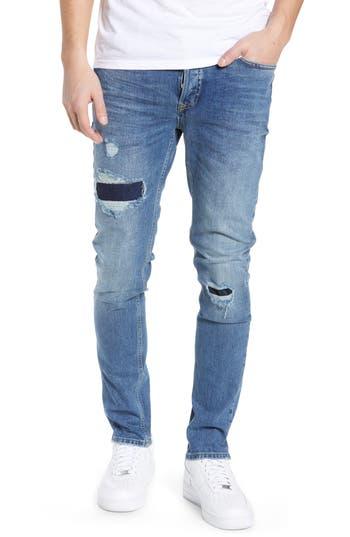 Topman Patchy Stretch Skinny Jeans