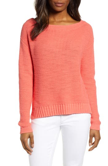 Caslon® Boat Neck Pullover