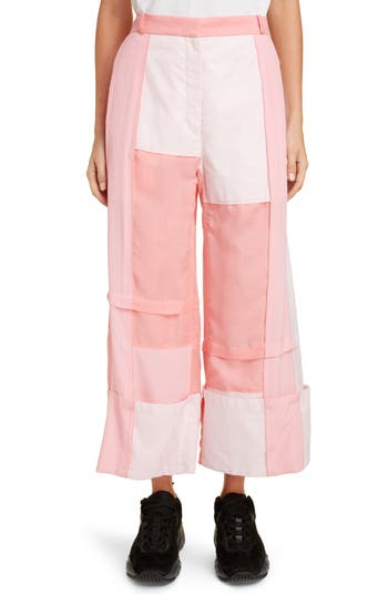 JW Anderson Wide Leg Patchwork Trousers