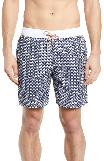 Bugatchi Regular Fit Swim Trunks