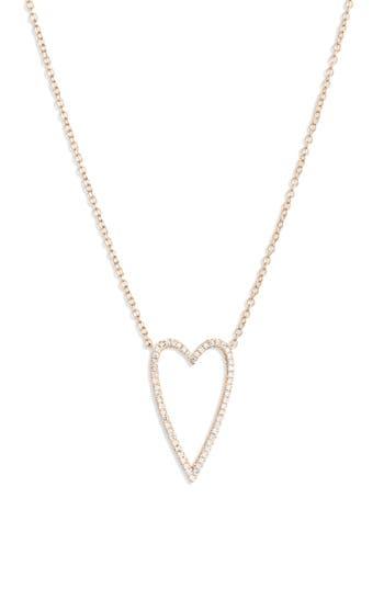 Bony Levy Large Diamond Open Heart Pendant Necklace