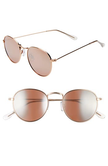 BP. 50mm Round Metal Sunglasses