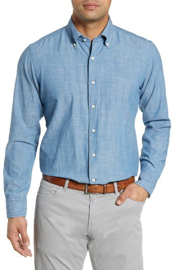 Peter Millar Collection Selvedge Chambray Sport Shirt