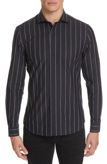 Versace Collection Logo Stripe Sport Shirt