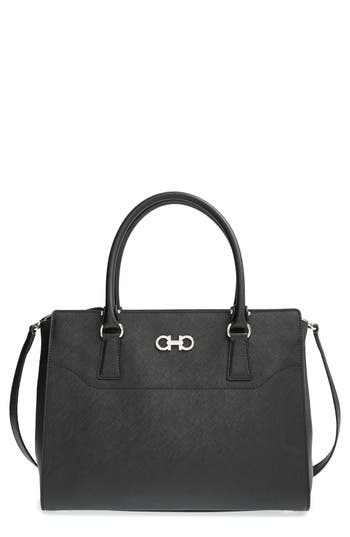 Salvatore Ferragamo Medium Saffiano Leather Tote -
