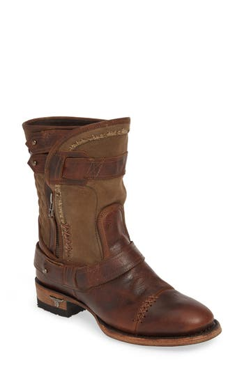LANE BOOTS Dust Off Leather & Canvas Boot (Women)