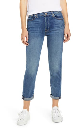 7 For All Mankind® Josefina High Waist Ankle Boyfriend Jeans (Pretty Medium Vintage)