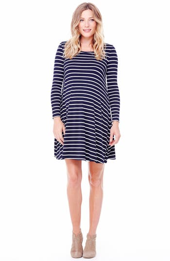 Ingrid & Isabel Striped Maternity Trapeze Dress