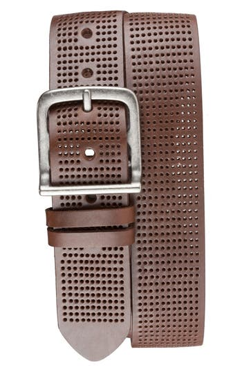 Bill Adler 1981 Perforated Leather Belt, Brown
