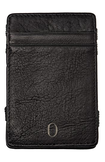 Women's Cathy's Concepts 'Magic' Monogram Leather Wallet - Black