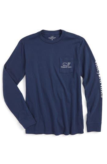 Boy's Vineyard Vines Vintage Whale Graphic Long Sleeve T-Shirt