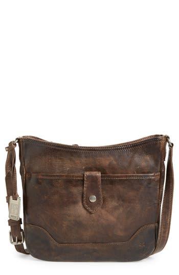 Frye Melissa Button Crossbody Bag - Grey