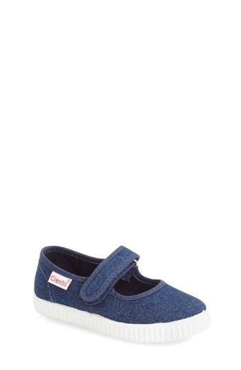 Girls Cienta Canvas Mary Jane Size 3US  34EU  Blue