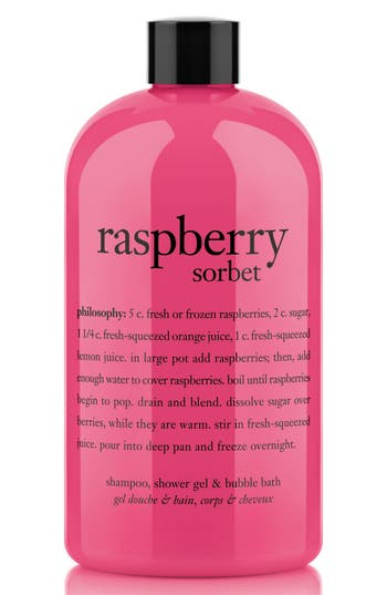 Philosophy 'Raspberry Sorbet' Award-Winning Ultra-Rich 3-In-1 Shampoo, Shower Gel & Bubble Bath, Size 16 oz