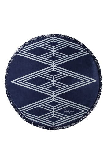 The Beach People 'Santorini' Round Beach Towel