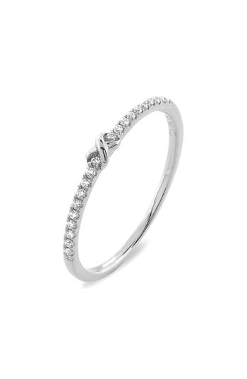 Women's Bony Levy Stackable Knot Pave Diamond Ring (Nordstrom Exclusive)