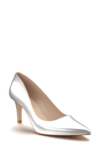 Shoes Of Prey Pointy Toe Pump, Metallic