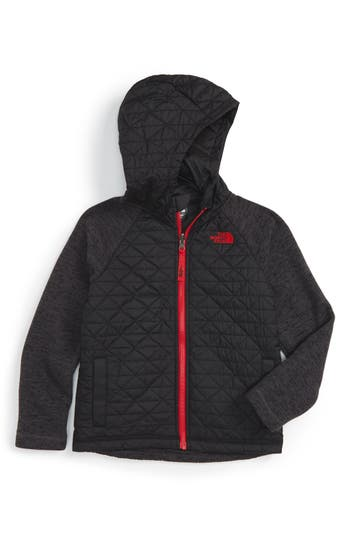 Toddler Boys The North Face Water Repellent Quilted Sweater Fleece Jacket Size 4T  Black