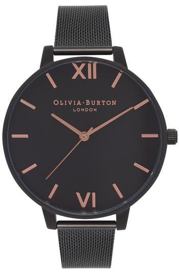 Women's Olivia Burton 'Big Dial' Mesh Strap Watch, 38Mm