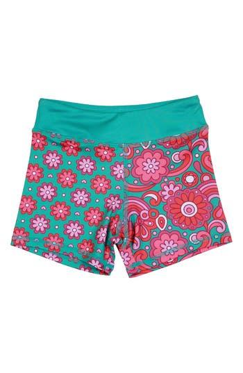Girl's Chooze 'Splits' Mixed Print Shorts