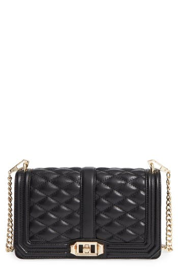 Rebecca Minkoff Love Leather Crossbody Bag - Black
