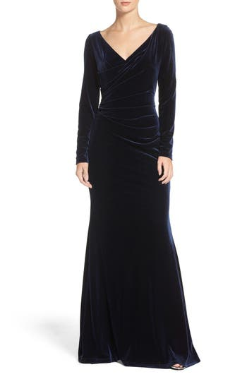 Vince Camuto Velvet Gown, Blue
