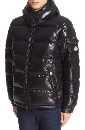 Moncler Maya Lacquered Down Jacket