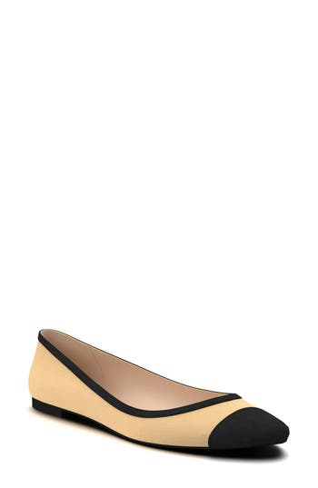Shoes Of Prey Cap Toe Flat - Brown