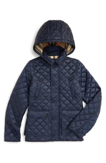 Boy's Burberry Charlie Quilted Field Jacket