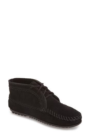 Minnetonka Chukka Moccasin Boot, Black