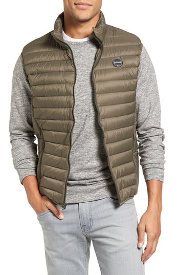 Schott Nyc Lightweight Quilted Down Vest, Green