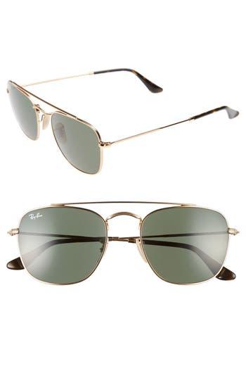 Ray-Ban Icons 5m Aviator Sunglasses - Gold/ Green