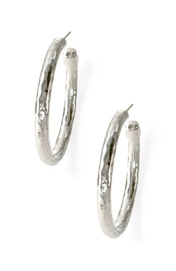 Women's Ippolita 'Glamazon - Number 3' Skinny Hammered Hoop Earrings