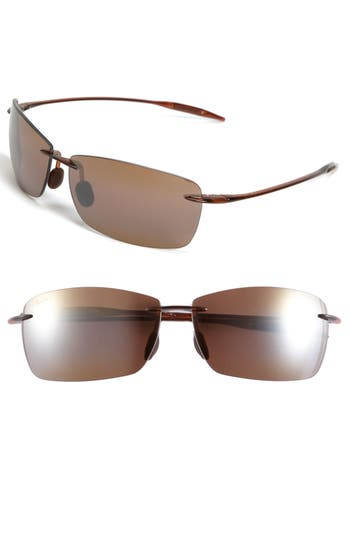 Maui Jim Lighthouse 65Mm Polarizedplus2 Rimless Sunglasses - Rootbeer
