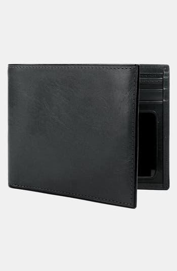 Bosca Leather Bifold Wallet - Black