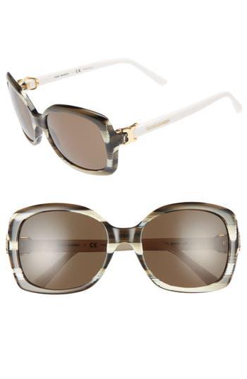 Women's Tory Burch 57Mm Retro Sunglasses - Olive
