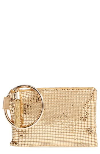 Whiting & Davis Bangle Wristlet - Metallic at NORDSTROM.com