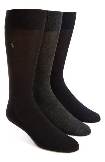 Men's Polo Ralph Lauren Assorted 3-Pack Supersoft Socks