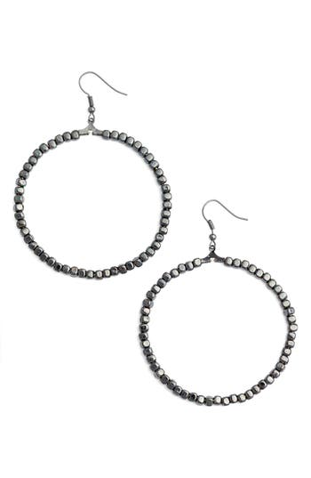 Women's Karine Sultan Ava Beaded Hoop Earrings
