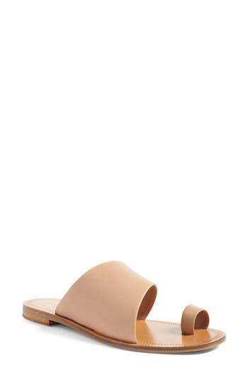 Diane Von Furstenberg Ello Toe Ring Sandal- Beige