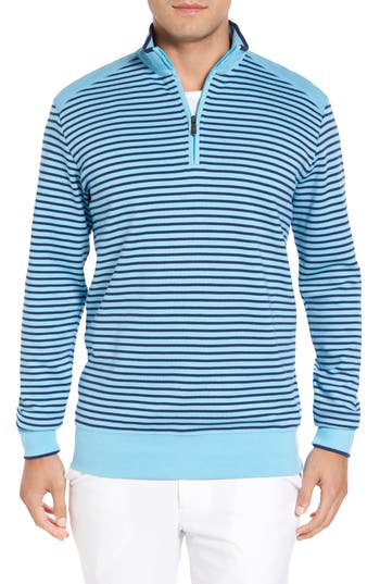 Men's Bobby Jones Stripe Quarter Zip Sweater